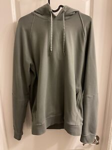 Lululemon Mens City Sweat Pullover Hoodie Green Stretch Classic Fit Pockets M