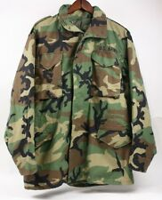 US Military Army 90s Woodland Camo Camouflage M-65 Field Jacket Coat Men M Long