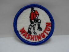 """Vintage Washington Capitals Hockey 2"""" Round Embroidered Sewn-On Patch non Nhl"""