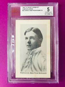 1967 SPORTS HOBBYIST FAMOUS CARDS #4 CHRISTY MATHEWSON/ M116 BVG