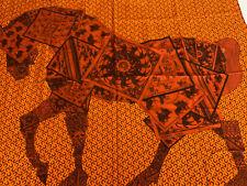 Hermes Scarf Au Cheval Sur Mon Carré Cashmere Shawl Cashmere & Silk  140x140