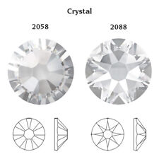 Genuine Swarovski Crystals 2058 & 2088 Foiled Flat Backs No Notfix * Many Colors Ss6 (2mm) 50 Crystals/pack Crystal