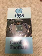 1998 UNC Tar Heels football cards uncut sheet Dre Bly Alge Crumpler Isenhauer