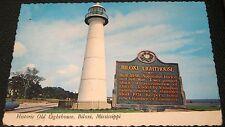United States Historic Old Lighthouse Biloxi Mississippi OS-205 Plastichrome - u