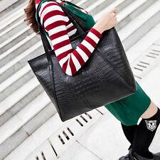 Neue Damen Groß Tasche PU Leder Handtasche Schultertasche Umhängetasche Shopper