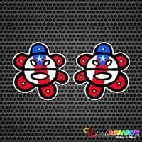 2x SOL TAINO WITH PUERTO RICO RICAN FLAG VINYL CAR STICKERS DECALS