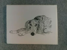 Saluki Pen and Ink Stationary Cards, Note Cards, Greeting Cards.10 pack.