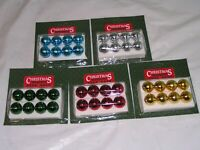 40 Pieces 25mm Red Ball Mini Bradford Novelty Co. Trimmeries Ornaments : NOS
