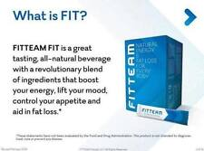 1 Box Fit Team Organic Weight Loss Energy Drink 30 count BRAND NEW