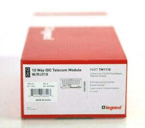 ON-Q Telecom 4x10 Telecom Module 110 Punch Down Connections with RJ31X TM110 C38