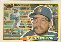 FREE SHIPPING-MINT-1988 Topps Big #260 Glenn Wilson MARINERS PLUS BONUS CARDS
