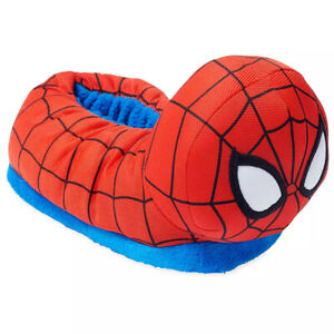 Disney Store Marvel Spider-Man Slippers Room Slippers Shoes Toddler Boy 7-8 9-10