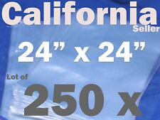 Lot Of 250 Piece Heat Shrink Wrap Film Flat Bags 24x24 Candles Pvc 24 X 24
