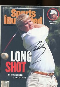 JOHN DALY GOLFERNO LABEL SPORTS ILLUSTRATED autographed signed