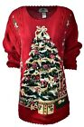 Women's TIARA INTERNATIONAL Holiday Party Ugly Christmas Sweater Sz 18/20 A913
