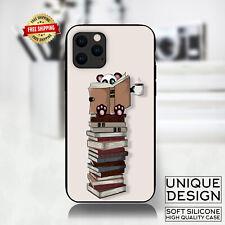 Panda Reading Books Coffee Phone Case Samsung Galaxy S20 S9 Huawei iPhone Case