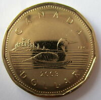2003W CANADA LOONIE PROOF-LIKE ONE DOLLAR COIN