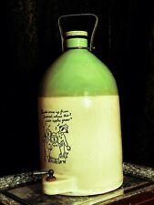 More details for vintage stone flagon coates somerset cider with singing yokel graphics and tap