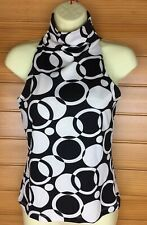 Cool Miss Shop 60's Style Mod Print Sleevelss Stretch Top Size 8-10 EUC