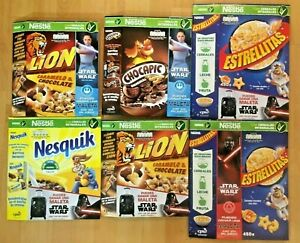 NESTLE STAR WARS RISE OF SYWALKER CEREAL EMPTY BOXES SPAIN 6 Pcs.