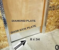 "Door Kick Plate Highly Polished 3003 grade Aluminum Diamond Plate 8"" x 34"""