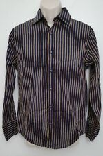 Englands Dreaming Mens Shirt Medium Blue Yellow Stripe Button Up Keanan Duffty