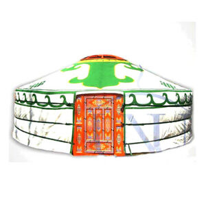 Mongolian Yurt, Green Canvas Cover