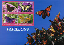 Congo 2018 CTO Butterflies Monarch Butterfly 4v M/S Papillons Insects Stamps