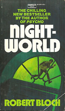 NIGHT-WORLD Robert Bloch - HORROR - CRAZED KILLER ESCAPES FROM ASYLUM