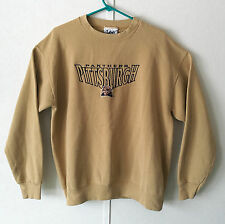 Vintage Pittsburgh Panthers Embroidered Crewneck Sweater Large Lee Sport Tan