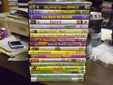 (21) Elmo Sesame Street Childrens DVD Lot: Muppets Christmas Fraggle Rock & MORE