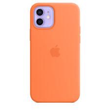 Apple Genuine Original Silicone MagSafe Case for iPhone 12 Mini - Kumquat