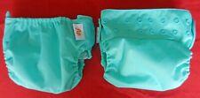 Two Aqua bum Genius FLIP diaper covers - with  2 liners