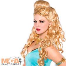Blonde Grecian Wig Ladies Fancy Dress Athena Roman Greek Adult Costume Accessory