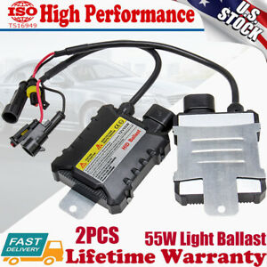 2 Pcs 55W HID Xenon Headlight Conversion KIT Bulbs For H1 H3 H4 H7 H11 9005 9006