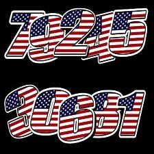 Racing Number Vinyl Usa United States Flag Sticker Motocross Moto Gp Car Atv