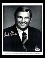 Hank Stram PSA DNA Coa Hand Signed 8x10 Autograph Photo