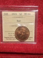 1915 CND 1 Large Cent ICCS MS 64