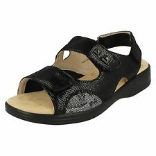 ab6f5b897e3 Ladies Padders Casual Sandals Gem UK 5 Black Reptile