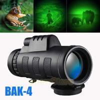 40x60 HD Monocular Telescope BAK-4 Prism High Power Waterproof with Night Vision