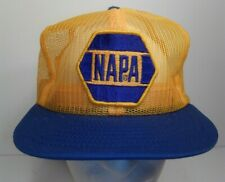 Vintage NAPA Snapback Trucker Hat Full Mesh Patch Cap Louisville Made in the USA