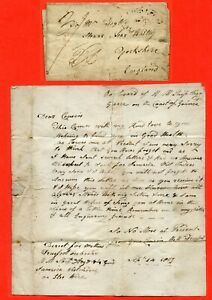 George III Pre Stamp Cover Sent From Aboard A Ship In Guinea. Dated 1807