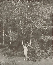 1930's Vintage Alfred Cheney Johnston Female Nude Outdoor Photo Print f
