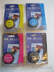 NEW Inkjet Refill Kit Universal Black Yellow Magenta Cyan HP Lexmark Canon Epson