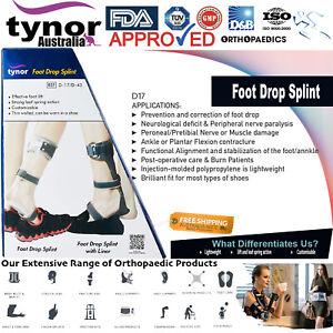 Tynor™ AFO Foot Drop Brace Splint Ankle Orthosis Leaf Spring Plantar Flexion