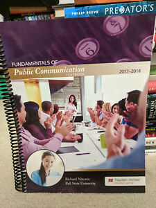 Fundamentals of Public Communication Textbook 2017-2018 Richard Nitcavic