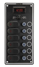 Waterproof 6 Gang Fuse Panel with Fuses & Current Commutator for yachts & power