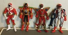 Bandai Mighty Morphin Power Rangers Time Force Quantum Red Ranger Figure LOT