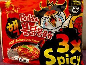 10 X Samyang Nuclear Hot Spicy Ramen Noodles 140G  Korean Bulda 3x Spicy