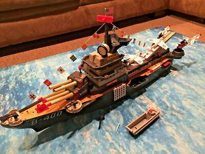 REMCO DELUXE READING B-400 U.S.S. BATTLEWAGON Partial restore Cleaned Battleship